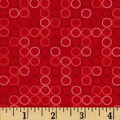 Spot On Circle In A Line Red from @fabricdotcom  Designed by RK Studio for Kaufman Fabrics, this tonal cotton print fabric is perfect for quilting, apparel and home decor accents.