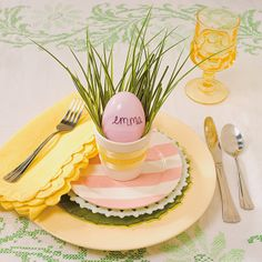 Easter Egg Place Setting - OrientalTrading.com
