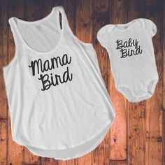 d09b3322 Mommy and Me Matching Outfit Mama Bird and Baby by KyCaliDesign Matching  Shirts, Matching Outfits