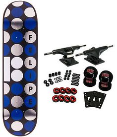 Skateboards-Complete 16264: Plan B Skateboard Complete Felipe Dots 8 BUY IT NOW ONLY: $65.95