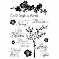Joycrafts - Transparent Stempel ENG - Cherry Blossom Tree