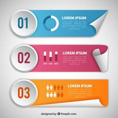 3d animated powerpoint templates free download aaa pinterest pack of colored infographic banners in realistic style free vector toneelgroepblik Image collections