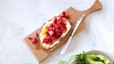 Ricotta and Strawberry Toast