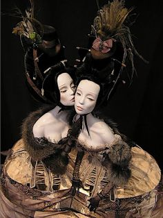 Popovy Sisters – Art dolls by Popovy Katya & Lena Popovy Sisters, Weird Toys, Sisters Art, Twin Sisters, Paperclay, Doll Repaint, Doll Crafts, Bjd Dolls, Doll Toys