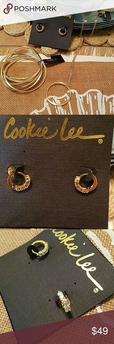 Cookie Lee Set Cookie Lee Set Gold tone NWT  EARRINGS,  BRACELETS,  NECKLACE Cookie Lee Jewelry