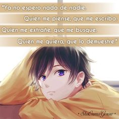 Ya no espero nada de nadie #ShuOumaGcrow #Anime #Frases_anime #frases