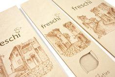 Freschi Bread by Elaina Culbert, via Behance Bakery Branding, Behance, Bread, Brot, Baking, Breads, Buns