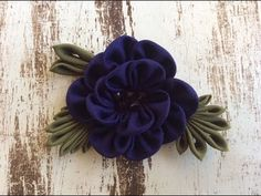 Funky Fabric Flower (step by step) - YouTube