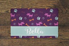 Personalized Pet Food Mats  Dog Paws *** You can get additional details at the image link. This is an Amazon Affiliate links.