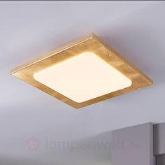 Goldumrandete LED-Deckenlampe Martina sicher & bequem online bestellen bei Lampenwelt.de.
