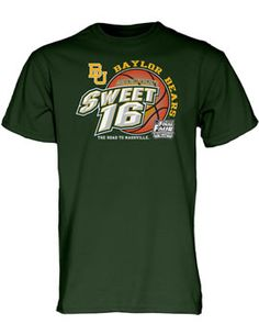#Baylor Bears Women's Basketball 2014 Sweet 16 T-Shirt
