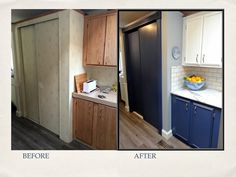 Before & After of the Food Storage Zone Diy Kitchen, Kitchen Cabinets, Before After Kitchen, Food Storage, Kitchens, Design, Home Decor, Decoration Home, Preserving Food