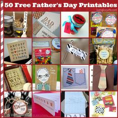 50 Free Printables for Father's Day! Great DIY Gift ideas, cards and tags. 50 of the best Father's Day Free Printables! Find great DIY gift ideas, cards and tags for dad. Easy Father's Day Gifts, Homemade Fathers Day Gifts, Fathers Day Presents, Fathers Day Crafts, Happy Fathers Day, Homemade Gifts, Diy Gifts, Gifts For Kids, Birthday Present Dad
