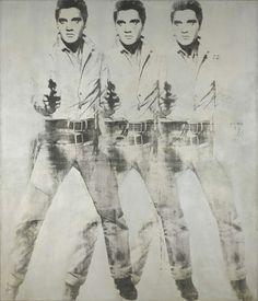 Blogged: http://retrogoddess.blogspot.com.au/2014/12/pop-art-hits-sydney.html Andy Warhol Triple Elvis 1963 aluminium paint and printer's ink screenprinted on canvas 209.2 x 180.6 cm Virginia Museum of Fine Arts, Richmond Gift of Sydney and Frances Lewis. © Andy Warhol Foundation
