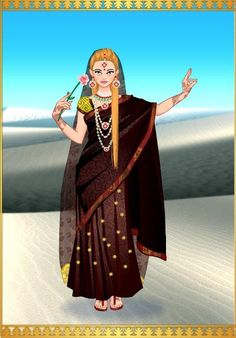 Princesa Nallely en traje Indu