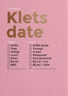 Klets date 1 | HAPPY INVITES | Happy Whatever