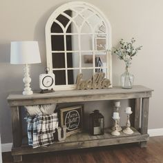 Home Living Room, Living Room Decor, Sofa Table Decor, Dining Room Console, Decoration Entree, Foyer Decorating, Home And Deco, Entryway Decor, House Design
