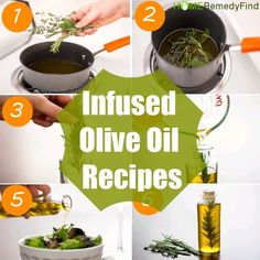 Site DIY Infused Olive Oil Recipes Learn how to make an herb infused oil or cooking, lotions or medicinal uses Flavored Olive Oil, Flavored Oils, Infused Oils, Crunchwrap Supreme, Olives, Diy Wedding Food, Cooking With Olive Oil, Cooking Oil, Olive Food