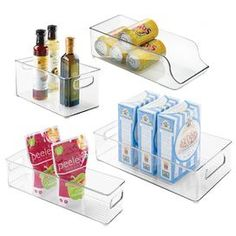 Use Clear Containers in the Fridge and Freezer. #organize