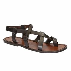 Dark Brown leather thong sandals Handmade in Italy Gladiator Sandals For Men, Tan Leather Sandals, Black Leather Shoes, Dark Brown Leather, Calf Leather, Leather Men, Women Sandals, Artisan Du Cuir, Toe Loop Sandals