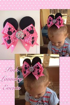 Minnie Mouse Ears Hairbow Clip by PinkLaundryEvts on Etsy, $7.50