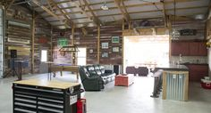 This hobby garage was built for Steve of Cypress, TX  Special Features:    Morton's Hi-Rib Steel  Brick Wainscot  Porch  Pavilion    Visit our blog to...