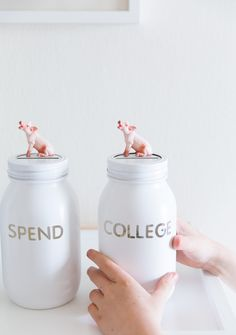 DIY piggy banks with @statefarm #BabySteps