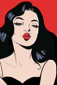 Pop art Drawing Poster Illustration, European and American pop style girl, woman in red lipstick illustration PNG clipart Art And Illustration, Pop Art Drawing, Art Drawings, Drawing Ideas, Comic Kunst, Comic Art, Blowing Kisses, Pop Art Girl, Art Graphique