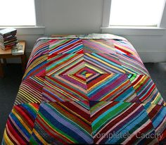 I don't even know if that name makes sense for this blanket, but this reminds me of some of the yarn and popsicle stick craft stuff we did all the time back then. Made this one with scraps of wool ...