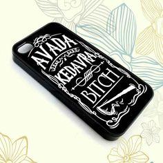 """Avada Kedavra"" Harry Potter Phone case. Modell: iPhone 5S. Färg: svart"