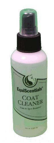 EquiScentials Coat Cleaner 4 oz by EquiScentials. $3.49. Quick spot removal. Natural shine. EquiScentials Coat Cleaner is a mild, leave-in cleaning alternative to completely shampooing and bathing the horse. It is effective in removing stains and filth by massaging it into the coat, gently toweling the area dry , followed by brushing.  - Dries quickly - Provides a natural shine - Works well in combination with all ATH Products