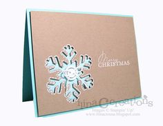 Pretty, simple card - this one for holiday, although different punches would work for different occasions.