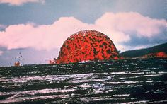 Dome Fountain: about 20 m tall, formed during the 1969-71 Mauna Ulu eruption of Kilauea Volcano, HI. Photo by J.B. Judd on 10/11/1969