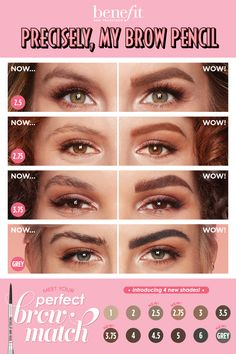 Get naturallooking, defined brows with Benefit's ultrafine precisely, my brow pencil! Now available in 12 shades, so you can find your perfect match! is part of Beauty makeup - Cabelo Ombre Hair, What Is Ketosis, Keto Diet Side Effects, Beauty Makeup, Eye Makeup, Eyebrow Makeup Tips, Precisely My Brow Pencil, Makeup Makeover, Anti Ride