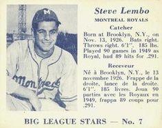 1950 Big League Stars (V362) #7 Steve Lembo Front