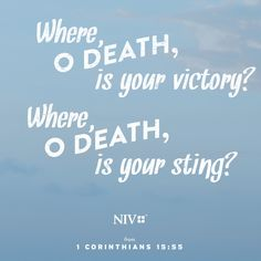 NIV Verse of the Day: 1 Corinthians 15: 55-57