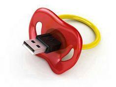 Pacifier USB memory stick // Love this! Techno Gadgets, Usb Gadgets, Cool Gadgets, Usb Drive, Usb Flash Drive, Pens Usb, Objet Wtf, Microsoft, Stationary Shop