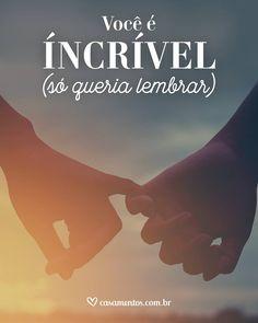 ❤😊💘😙💗😍💟🤗💝💙💛💜❤⚘💕 VOCÊ  É  INCRÍVEL!!!****💓SÓ  PRA  TE LEMBRAR !!! ❤⚘🍃TE  AMO !!! 💕⚘❤ Love My Husband, My Love, Frases Love, Making Love, Love Post, Love Phrases, My Soulmate, True Love, Don't Give Up