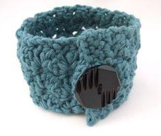 Stash-busting crochet wrist cuff