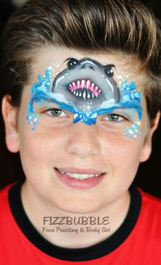 Jo Bertram Shark Face Painting Design