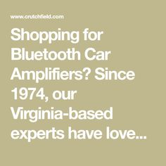 Shopping for Bluetooth Car Amplifiers? Since 1974, our Virginia-based experts have loved talking A/V. We are here to help you choose the best option for your needs! Enjoy lifetime tech support and free shipping with delivery in 3 days or less. Call or chat with us today for free personalized advice from an A/V enthusiast.
