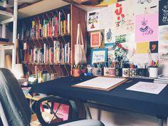 Conheça o escritório fofo da ilustradora Melissa Westphal, do Manifesto Cuticuti.