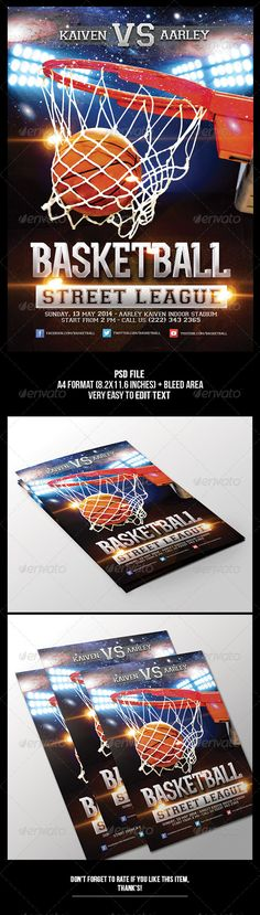 Fashion Weekend Miami, Flyer template and Flyers - basketball flyer example