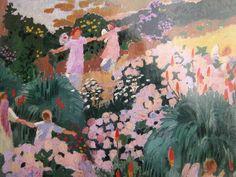 Maurice Denis - Le paradis Maurice Denis, Summer Painting, Garden Painting, Paul Gauguin, Art Français, Pierre Bonnard, Edouard Vuillard, Art Japonais, Post Impressionism