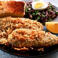 Breaded Tilapia parmesan is a delicious high-protein, low-carb, low-sugar recipe.Tilapia is very healthy if grown on a healthy fish farm!
