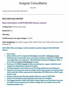 Mcx Metaldex Report: 20th October 2020 #icomdex #mcx #mcxicomdex #mcxindex #icomdexbullion #copper #aluminium #mcxmetaldex #mcxlead #mcxcopper #mcxmickel #mcxzinc #mcxaluminium