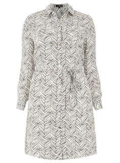 Lovedrobe Ivory Scratch Print Dress - Evans