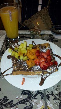My breakfast #justonceamonth#foodlover#guiltypleasure