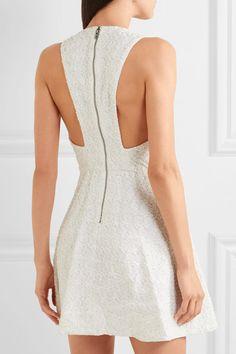 Alice Olivia - Tanner Beaded Embroidered Cotton Mini Dress - White - US8