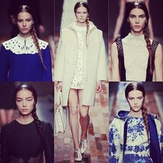 Feeling the Rapunzel style braids and Alice bands at Valentino #beauty #hair #braid #runway #pfw #valentino #fashion #fw13 #instagood #instacollage